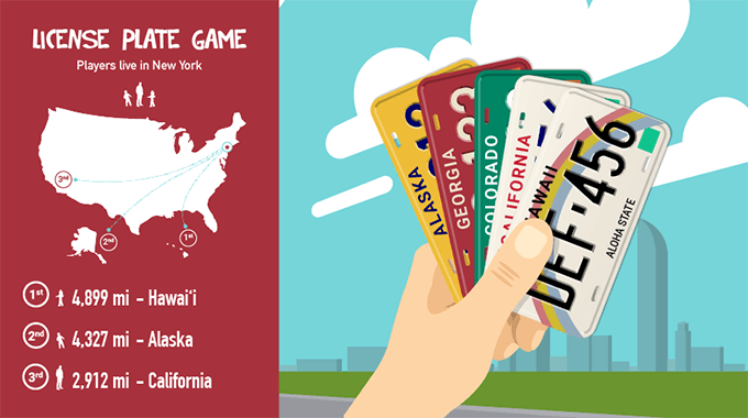 License plate game rules explainer graphic