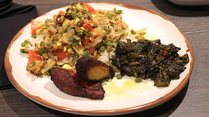 Ackee and saltfish entree at Bob Marley: A Tribute to Freedom restaurant