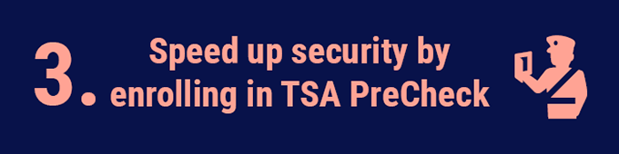Speed up security by enrolling in TSA PreCheck