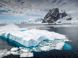 An iceberg in the Lemaire Channel in Antarctica