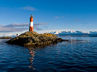 The Les Eclaireurs Lighthouse in the Beagle Channel near Ushuaia, Argentina