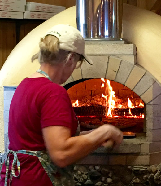 Making pizza in the brick oven | Hilary Nangle