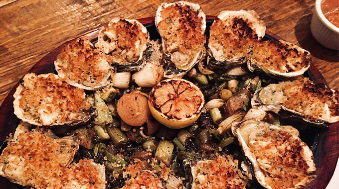 The Original Ninfa's on Navigation's Spicy Baked Oysters