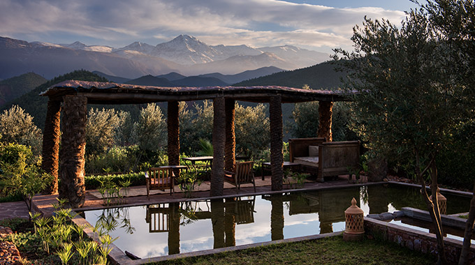 Between its serenity and scenery, Kasbah Bab Ourika is beloved among wellness seekers and photographers—thus the series of yoga, detox and photography retreats on the 2021 calendar. | Photo courtesy Kasbah Bab Ourika