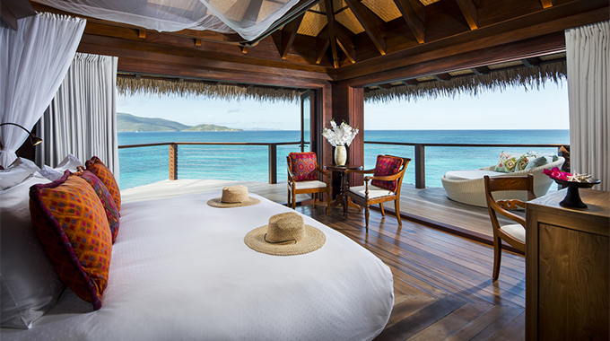While there's no bad spot on Necker Island, one favorite is the high-up perch of Leha Lo, where the all but unobstructed Caribbean breeze means you won't miss the AC.  | Photo courtesy Necker Island