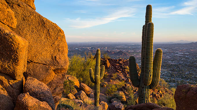 The Echo Canyon Trail leads to the summit of Camelback Mountain. | Visit Phoenix/Nick Cote