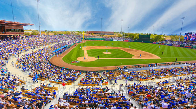 The Los Angeles Dodgers and the Chicago White Sox play at Camelback Ranch in Glendale during spring training. | Courtesy Camelback Ranch