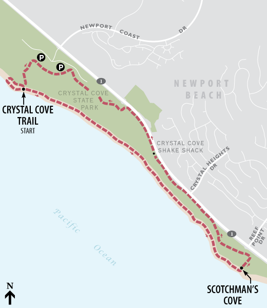 Crystal Cove walking route