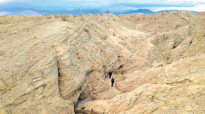 The Slot, a canyon in Anza-Borrego State Park
