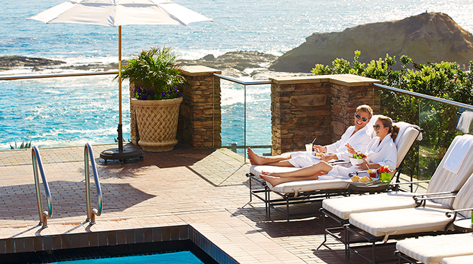 Poolside lounge at Spa Montage | Photo courtesy Montage Laguna Beach
