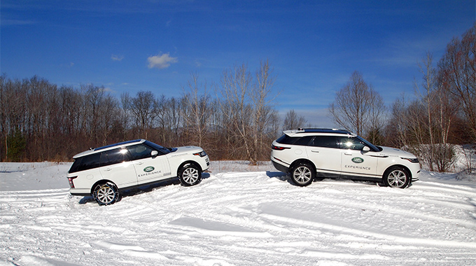 Improve your winter-driving skills at the Land Rover Experience School in Manchester, Vermont. | Photo by Land Rover Experience Vermont