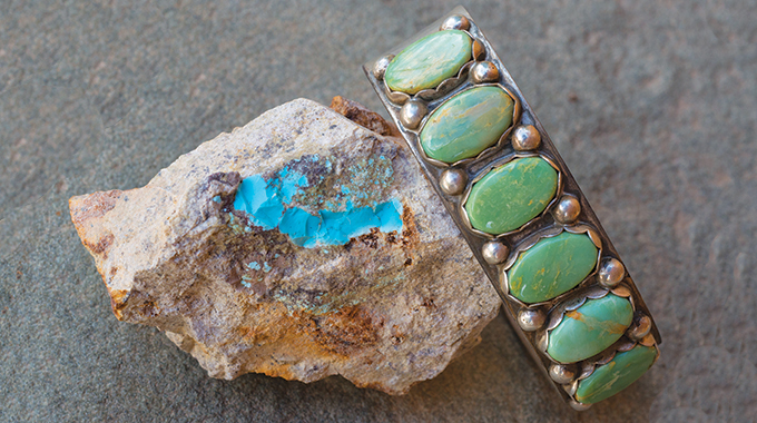 Shop for turquoise jewelry along the famed Turquoise Trail. | Photo by Steve Larese