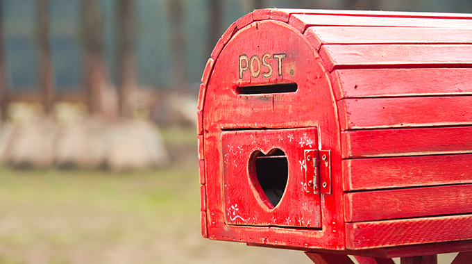 A postmark from Valentine, Texas, will make your love letter extra special. | Photo by Adobe Stock Photo