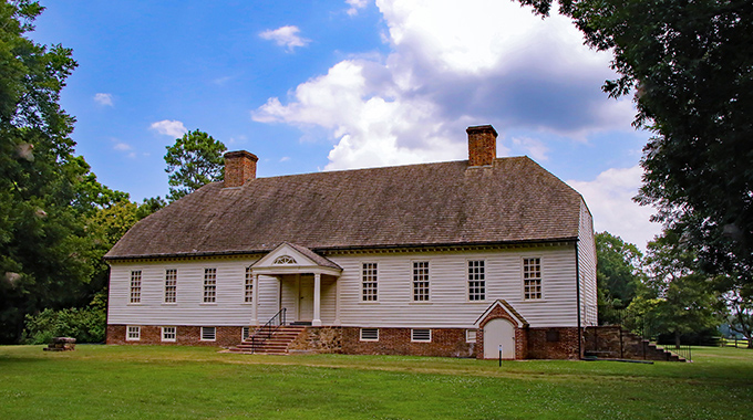 "Patrick Henry is said to have conceived his famous ""Give Me Liberty"" speech in Scotchtown, the only original standing home of his that's open to the public. 