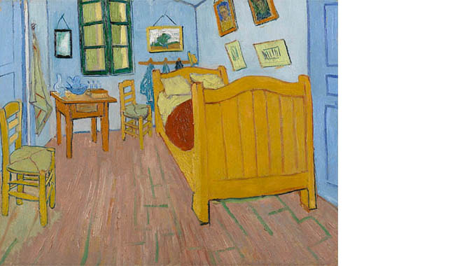 """Bedroom at Arles"" by Vincent Van Gogh 