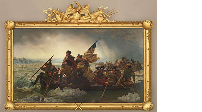 """Washington Crossing the Delaware"" by Emanuel Leutze. 