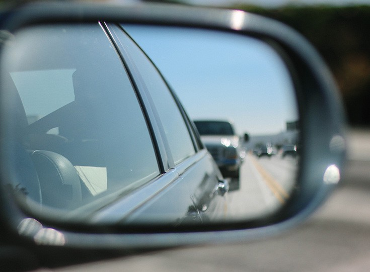 Rear view mirror cars