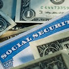 Dollar bills money social security card identity theft
