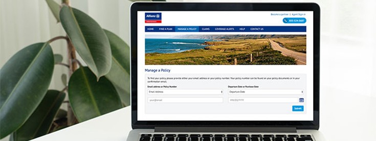 Travel insurance online laptop allianz