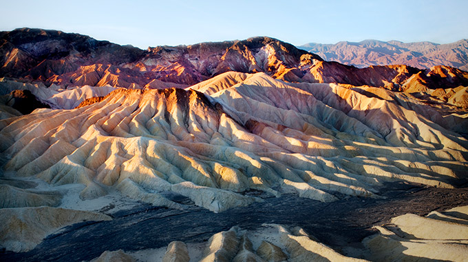 The badlands at Zabriskie Point in Death Valley National Park