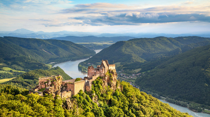 Castle ruins in Wachau Valley, Austria