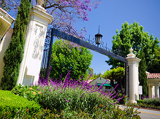 The East Gate to the Bel Air neighborhood