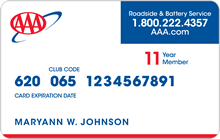 AAA Select Level – Printable Membership Cards