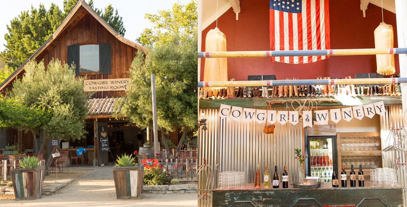 Views of the Cowgirl Winery tasting room in Carmel Valley