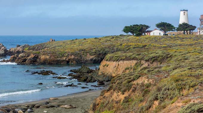 The historic Piedras Blancas Light Station, which is 16 miles north of Cambria, offers tours. | Courtesy of the Bureau of Land Management
