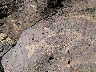 Rare in desert petroglyphs, fish were a delicacy in the Puebloan's diet.